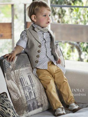 Κοστούμι βάπτισης για αγόρι καλοκαιρινό
