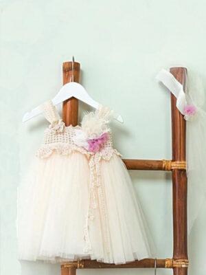 Φόρεμα βάπτισης για κορίτσι καλοκαιρινό