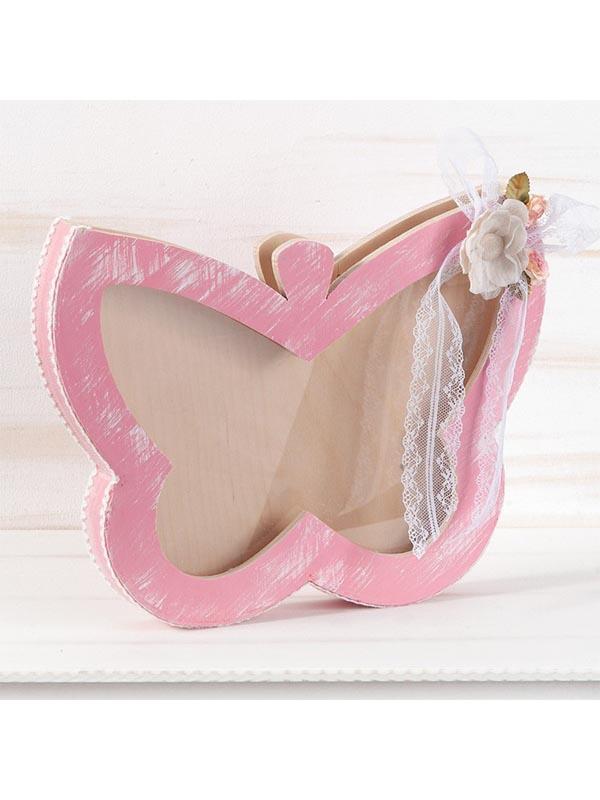 Κουτί ευχών βάπτισης για κορίτσι Πεταλούδα