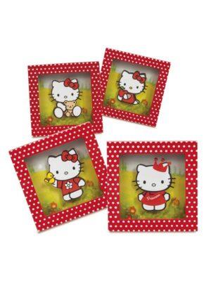 Μπομπονιέρα βάπτισης Καδράκι Hello Kitty